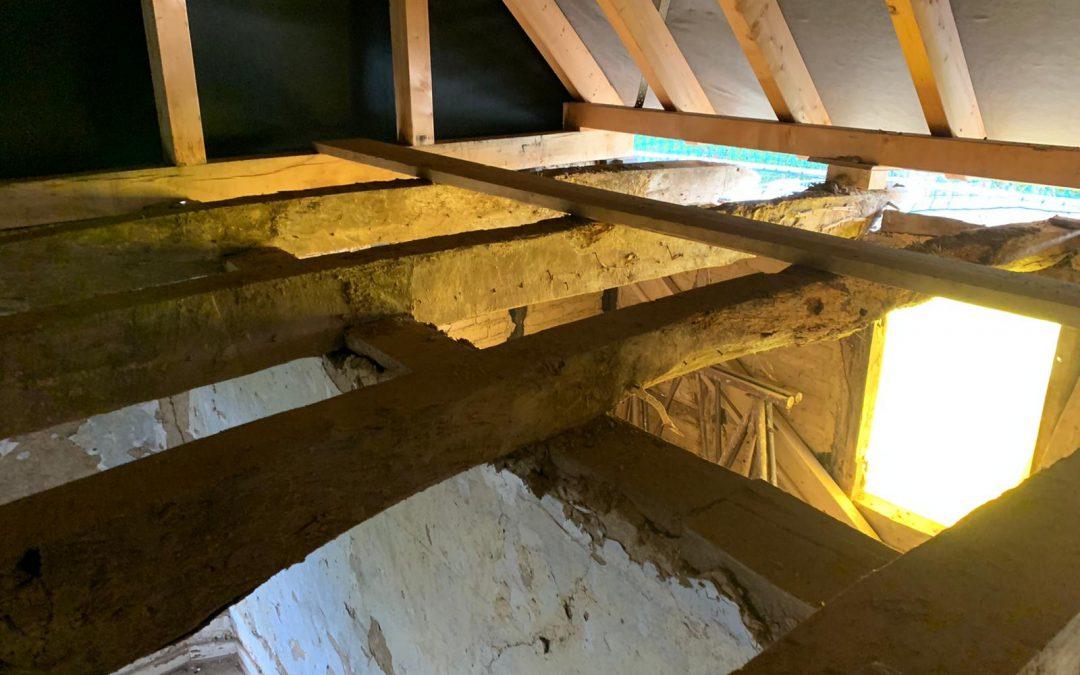 Die Arbeiten im Inneren des Hauses gehen voran