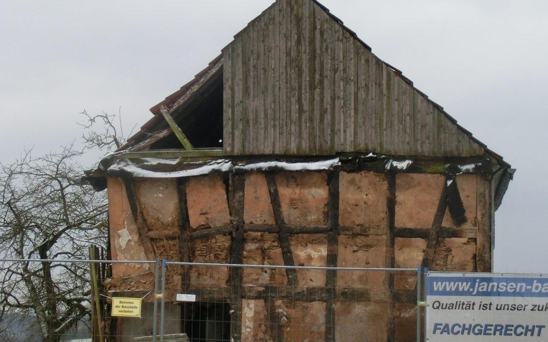 März 2018 – Fassadenarbeiten…